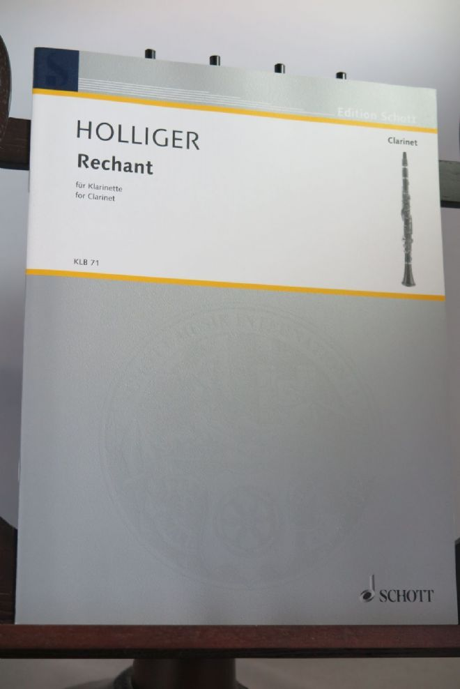 Holliger H - Rechant for Clarinet in B Flat Solo